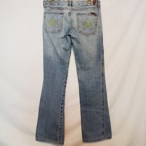 7 FAM A Pocket Light Wash Bootcut Jeans